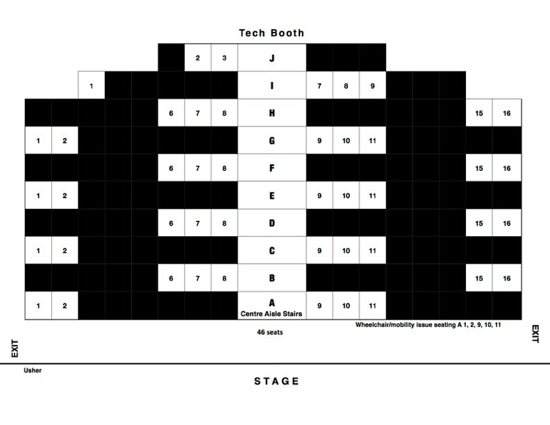 graphic of social distance seating plan